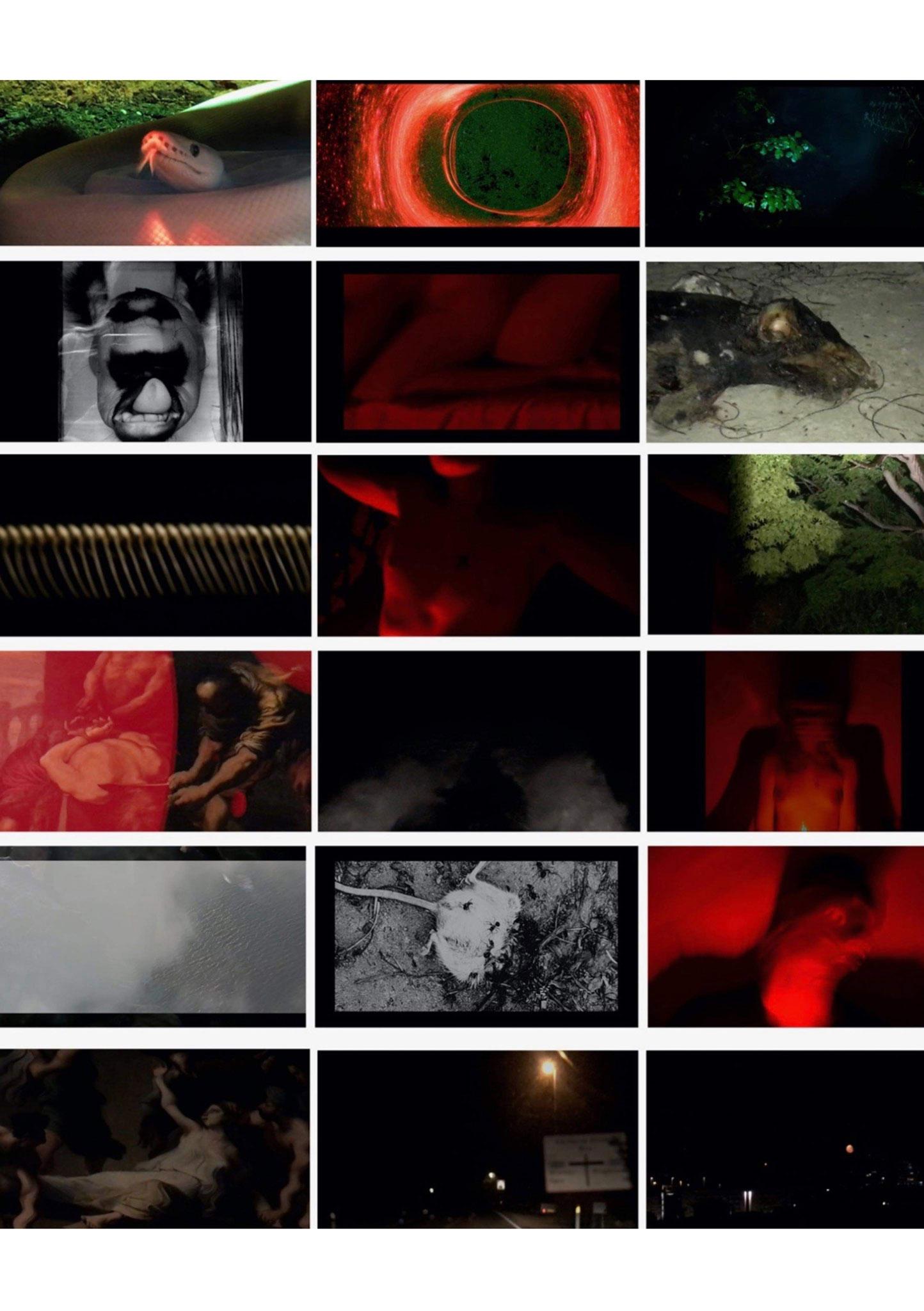"""Film stills, """"pity fear catharsis"""", Line Myhlendorph, Springbrættet 6a, Udstilling *01"""